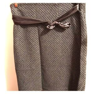 Grey Tweed Skirt with Sparkle and Ribbon. Size 18.